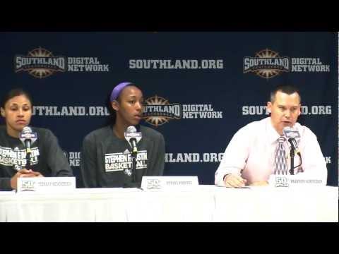 WBB: SLC Tourney Post game vs UCA