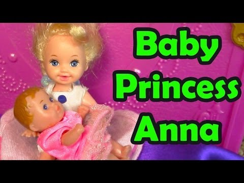 Frozen Baby Princess Anna Toddler Princess Elsa Crying Powers Disney Sisters Movie Part 4 video