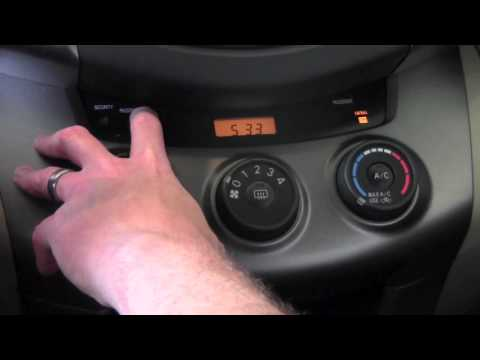 2011 Toyota Rav4 Setting The Clock How To By Toyota City