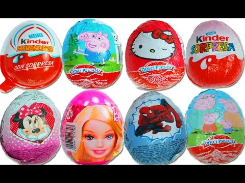 Kinder Surprise Eggs Peppa Pig Play Doh Barbie Tom And Jerry Mickey Mouse video