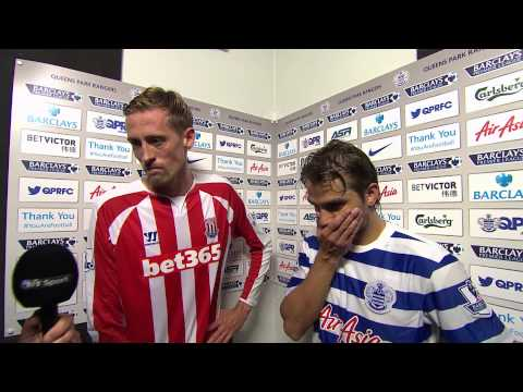NIKO KRANJCAR AND PETER CROUCH POST-MATCH INTERVIEW I QPR 2, STOKE CITY 2