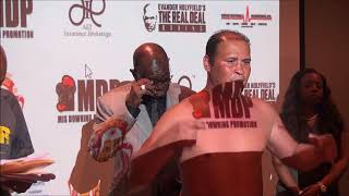 Mis Downing Weigh in, May 31, 2018 Webster vs Riojas