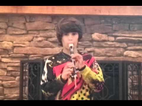Nick plays a little recorder music