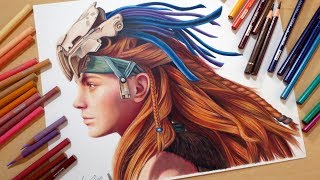 Speed Drawing: Aloy | Horizon Zero Dawn