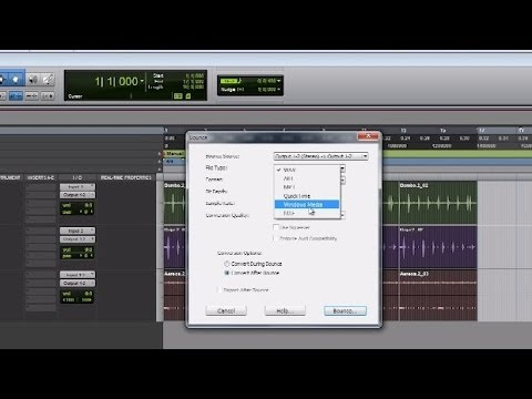 Pro Tools, Tutorial: Como exportar la mezcla final a un archivo de audio.