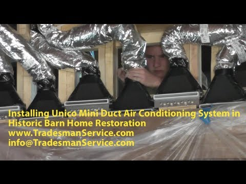 Installing Unico Mini Duct Air Conditioning System In