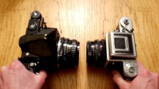 Lens to lens: Pentax 67 vs Pentacon Six TL
