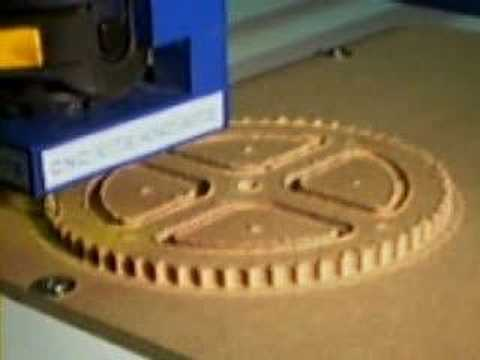 MDF CLOCK COG CUT ON A CNC ROUTER