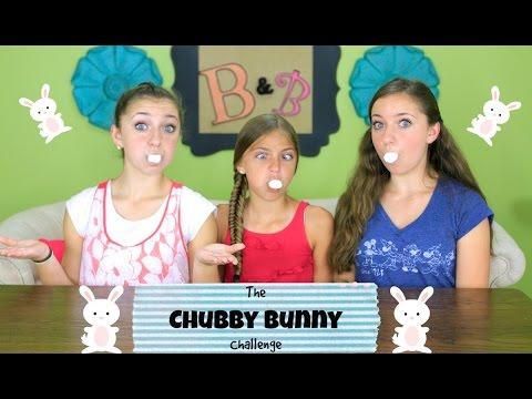 🐰 Chubby Bunny Challenge | Brooklyn and Bailey