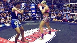 Katya PhuketTopTeam Russia vs Chalika Keawphitak MT Thailand - Female Muay Thai fight 30 Dec 2016