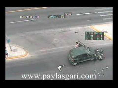 inanılmaz bir motor kazası