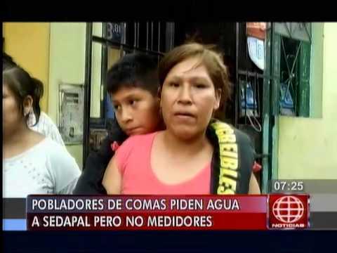 América Noticias: Vecinos de Comas no quieren instalación de sistema de Sedapal