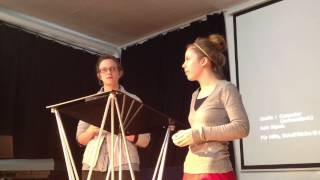 AIMer Caroline Smith from WI ministering in Spanish, AIMer Savannah Suppan translating into English