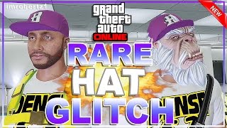 GTA 5 Online - Best Rare Hat Glitch! Purple and Green Hats! Cool Outfits! GTA 5 Glitches!