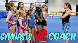 Gymnasts VS Coach Simon Says Gymnastics Challenge  Rachel Marie