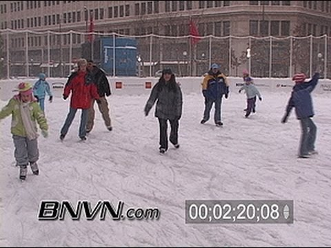12/3/2005 General snow video with people in the cold