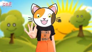 Five little cats Siting on a wall   New Song For Kids   Nursery Rhymes FUNNY