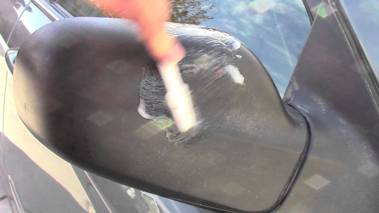 How to restore plastic trim remove car wax youtube Black interior car trim restorer
