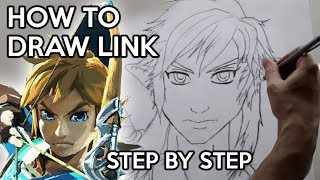 How to Draw Link from Zelda: Breath of the Wild