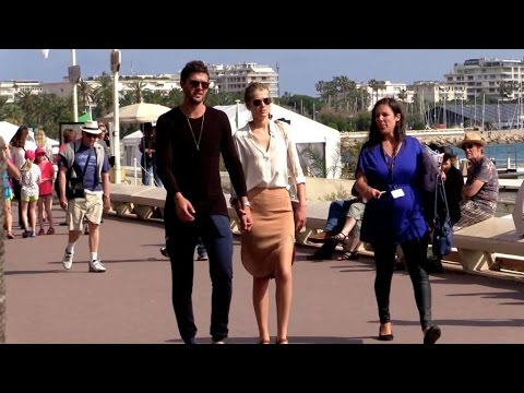 EXCLUSIVE: Toni Garrn and boyfriend hand in hand on the croisette in Cannes