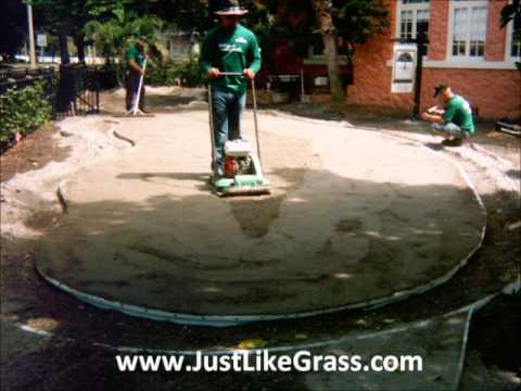 green install artificial putting green residential backyard