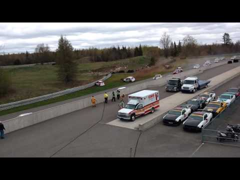 Coupe Micra Cup Calabogie Race 2 Crash - May 15 2016