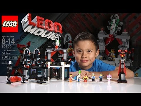 LORD BUSINESS' EVIL LAIR - LEGO MOVIE Set 70809 & BLIND BAG - Time-lapse Build. Unboxing & Review!