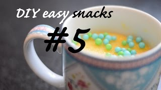1 minute mug cake - DIY EASY SNACKS #5