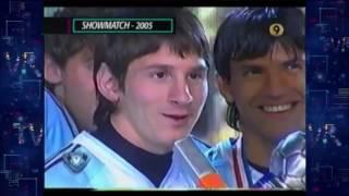 Messi en Showmatch a los 18 años
