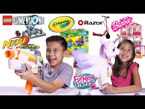 EPIC TOY REVIEW & UNBOXING! Nerf. LEGO Dimensions. Razor. Barbie Dreamhouse. Crayola. FurReal
