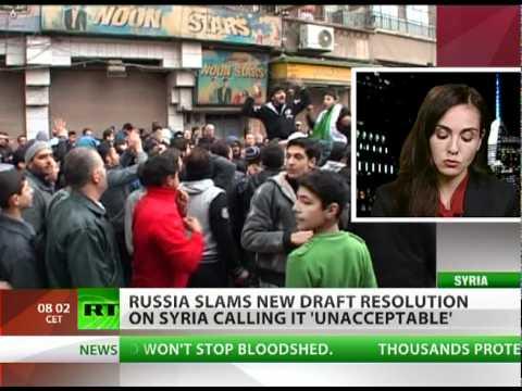 Russia slams 'unacceptable' draft resolution on Syria