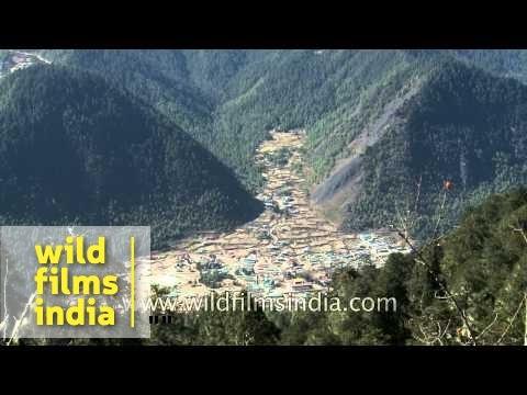Top view of Haa Valley, Bhutan