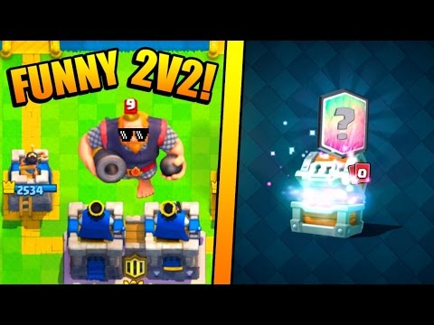 FUNNY CLAN BATTLES :: Clash Royale :: LEGENDARY CARD FROM GIANT CHEST OPENING!