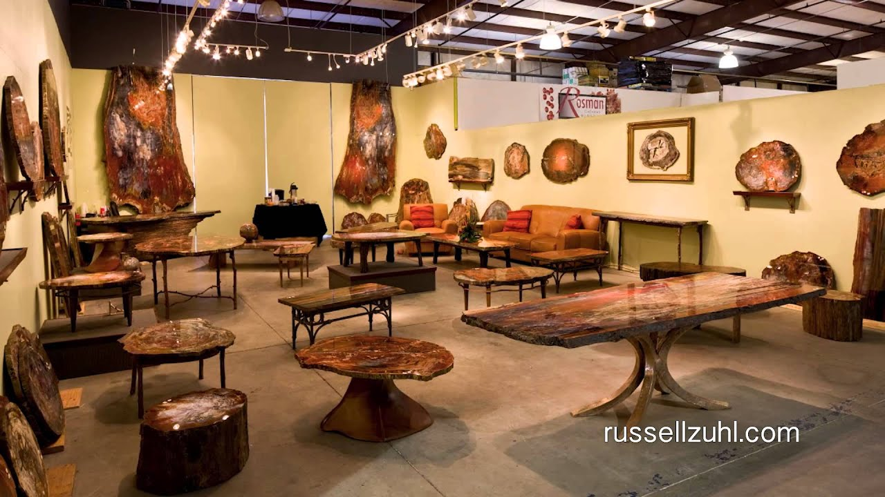 Russell zuhl petrified wood introduction youtube for Petrified wood furniture for sale