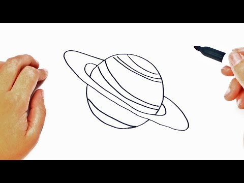 How to draw a Planet Step by Step | Easy drawings