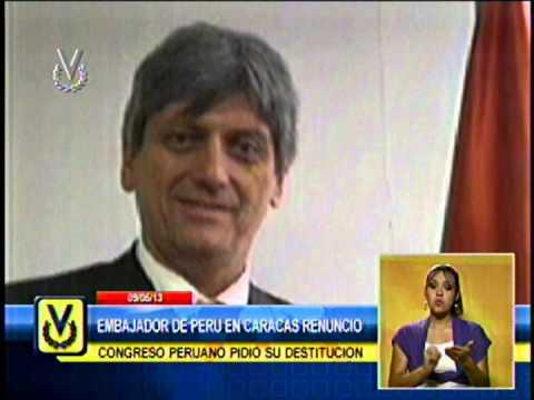 Embajador de Perú en Venezuela renunció tras ser cuestionado por el Congreso