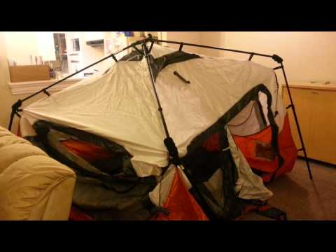 Coleman Instant Tent-6 Person 1st Attempt to Setup