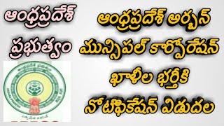 Andhra pradesh urban local body jobs notification|vijayawada muncipal corporation jobs recruitment