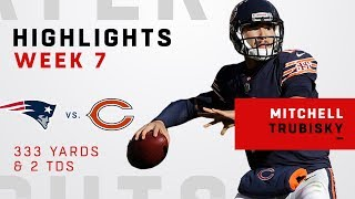 Mitch Trubisky Tosses 333 Yards & 2 TDs vs. Patriots