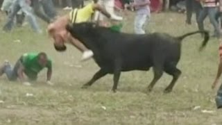 Graphic video: Two men killed during bullfight in Colombia