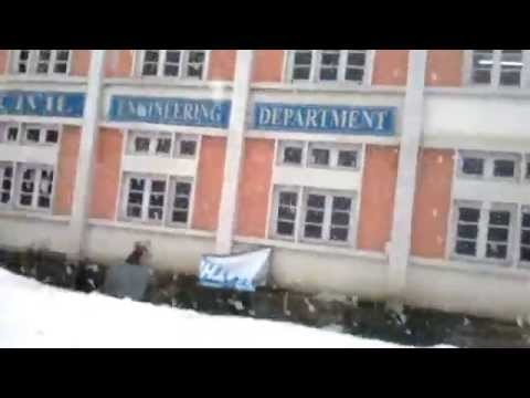 snowfall at NIT Srinagar - Gautam kishore