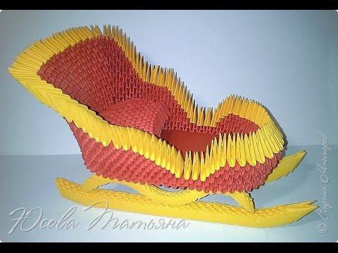 Новогодние поделки из модульного оригами