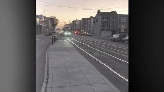 New 2 cars Siemens N Judah Inbound CalTrain BallPark 2040 & 2046 w/ editing video