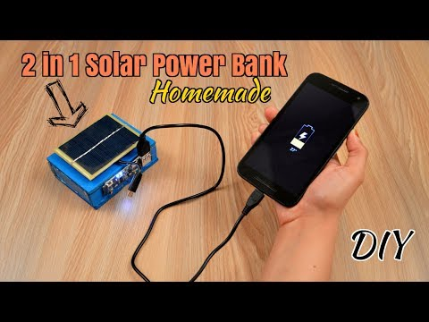 How to Make 2 in 1 Solar Power Bank from Scrap Laptop Battery - DIY   Homemade