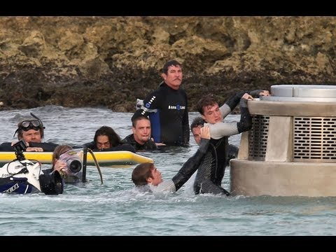 Catching Fire in Hawaii - Katniss, Finnick, Peeta & Gale!