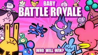 Baby Pokemon Battle Royale ANIMATED (Loud Sound Warning) 🤛👶🤜