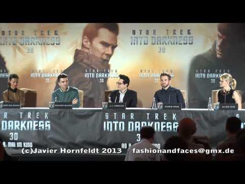 Star Trek Into Darkness Press Conference Berlin, Chris Pine, Zachary Quinto, Zoe Saldana etc.