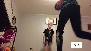 1v1 On mini basketball hoop vs Joe!!