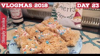 Vlogmas Day 23 How To Make Candy Cane Covered Rice Crispy Treats