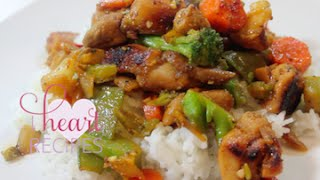 Dinner For Two | Honey Chicken & Vegetable Stir Fry - I Heart Recipes